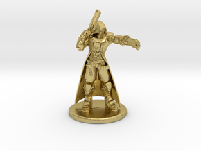 Overwatch Reaper 1/60 miniature for rpg and games in Natural Brass