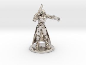 Overwatch Reaper 1/60 miniature for rpg and games in Rhodium Plated Brass