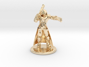 Overwatch Reaper 1/60 miniature for rpg and games in 14k Gold Plated Brass