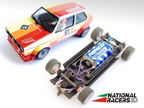 3D Chassis - Spirit VW Golf I (Inline) in Black Natural Versatile Plastic