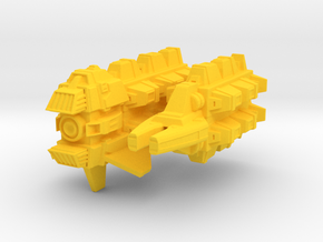 Cardassian Military Freighter 1/1000 in Yellow Processed Versatile Plastic