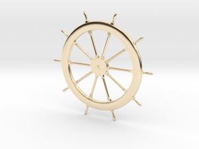 Schooner Zodiac Steering Wheel in 14K Yellow Gold