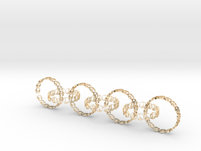 seven 6 18.11 mm ring in 14k Gold Plated Brass