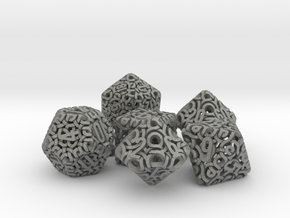 Ring Dice Set With Decader in Gray Professional Plastic