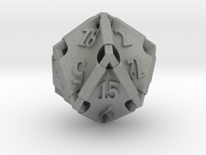 Stretcher d20 in Gray PA12