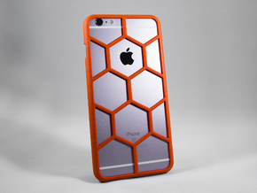 iPhone 6 Plus DIY Case - Hexelion in Red Processed Versatile Plastic