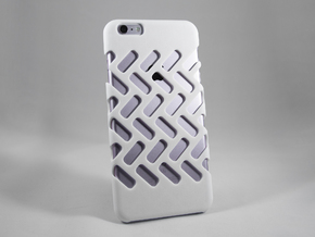 iPhone 6 Plus DIY Case - Ventilon in White Processed Versatile Plastic