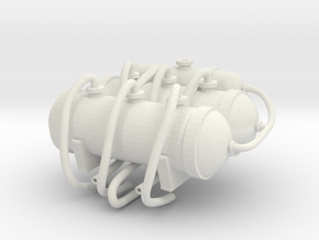 G-5 1:12 Scale Compressed Air tanks in White Natural Versatile Plastic