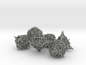 Thorn Dice Ornament Set in Gray Professional Plastic
