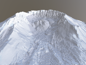 Mount St. Helens Contour Map (10 Meter) - Large in White Natural Versatile Plastic