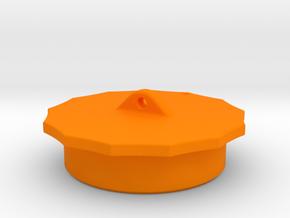 575v power cable plug - Inner Cap (2.865-.200) in Orange Processed Versatile Plastic