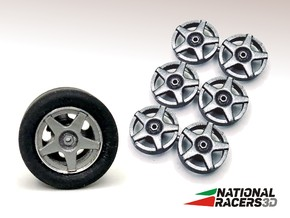 3D Wheel Inserts - O.Z. Racing Wheels in Smooth Fine Detail Plastic