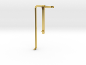 GE U36B walkway Handrail RH front in Polished Brass