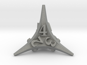 Caltrop d4 in Gray Professional Plastic