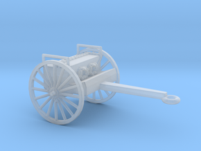 1/87 Scale 75mm Gun Caisson M1918 in Smooth Fine Detail Plastic