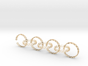 size 6 18.11 mm seven rings in 14k Gold Plated Brass