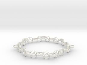 63.5 mm approximately bracelet in White Natural Versatile Plastic