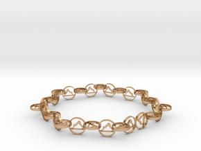 63.5 mm approximately bracelet in Polished Bronze (Interlocking Parts)