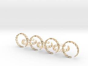 seven size 6 18.11 mm rings (1) in 14k Gold Plated Brass
