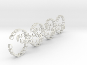 seven size 6 18.11 mm rings in White Natural Versatile Plastic