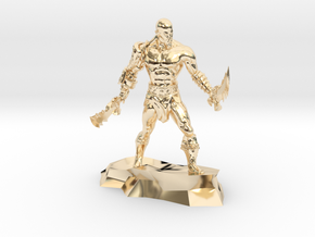 Kratos god of war classic miniature fantasy games in 14k Gold Plated Brass
