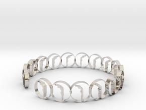 6 ring in Rhodium Plated Brass