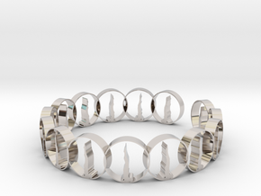 size 6 18.11 mm ring in Rhodium Plated Brass