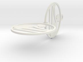 earring in White Natural Versatile Plastic