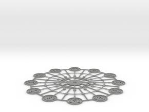 Kaleidoscope Clock - Part A in Gray PA12