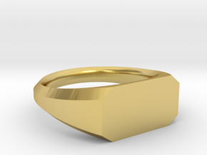 UNISEX Pinky Ring Multiple Sizes in Polished Brass: 6.75 / 53.375