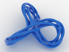 Cyclic Knot Sculpture in Blue Processed Versatile Plastic