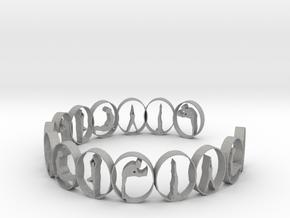 multi yoga pose ring in Aluminum
