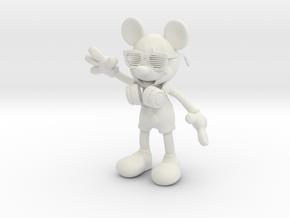 DJ Mickey in White Natural Versatile Plastic