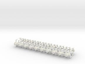 6mm Assassin Robots X20 in White Natural Versatile Plastic