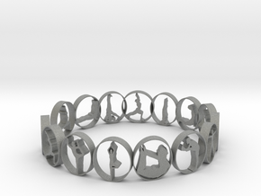 size 7 multi pose yoga ring 18.92 mm in Gray PA12