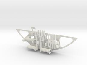 Vario UH-1 1/7 Pedals Set in White Natural Versatile Plastic
