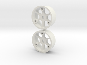 "4WD - ""No glue !"" - Ø19,5mm - 1 in White Natural Versatile Plastic"