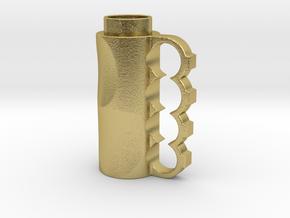 Brass Knuckle in Natural Brass