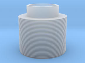 Threaded in Smooth Fine Detail Plastic