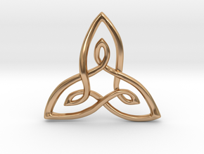 Trifolium Knot Pendant in Polished Bronze