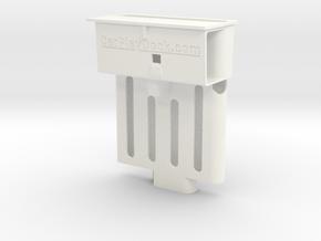 Audi TT CarPlay dock for iPhone X/XS + thin case in White Processed Versatile Plastic