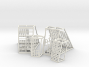 DIORAMA 1/350 DSTAR ENDOR STAND CAGES in White Natural Versatile Plastic