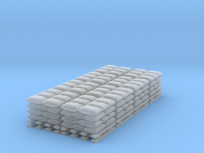 Sandbag Stack - Set of 8 - Zscale in Smooth Fine Detail Plastic