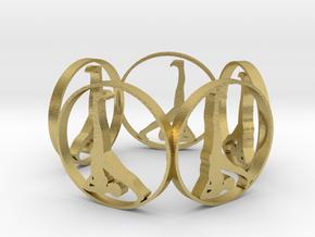 yoga bracelet in Natural Brass