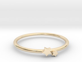 Twin Star Ring (Multiple Sizes) in 14K Yellow Gold: 6 / 51.5
