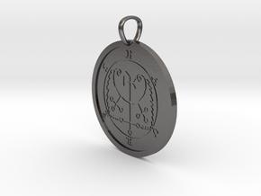 Haures Medallion in Polished Nickel Steel
