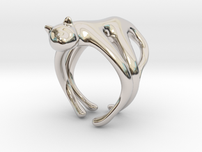 catRing_A in Rhodium Plated Brass