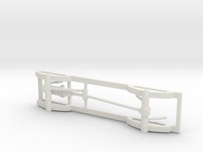 1/50 4x4 Pickup truck frame in White Natural Versatile Plastic