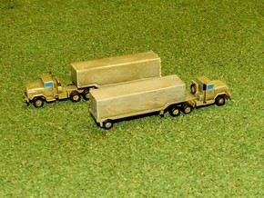 US M932 Semi Truck with M373 Trailer 1/220 in Smooth Fine Detail Plastic