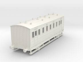 0-76-ner-n-sunderland-saloon-brake-conv-coach in White Natural Versatile Plastic
